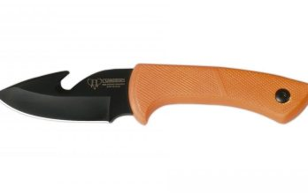 Cudeman – 133-W Skinner Orange Handle Black Blade