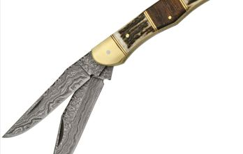 Damascus – Filework Folding Hunter