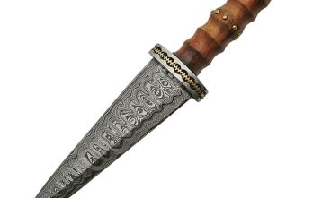 Damascus – Dirk Rosewood Handle