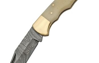 Damascus – Camel Bone Lockback