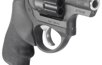 Ruger – RUKLCR-327 LCR 327FED BL/HOGUE GR 6RD DAO 5452 327 Federal Magnum