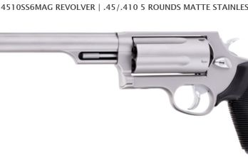 TAURUS JUDGE 3″ MAGNUM 6.5″ BARREL 4510SS6MAG REVOLVER | .45/.410 5 ROUNDS MATTE STAINLESS