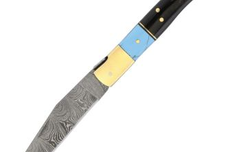 Damascus – Turquoise and Horn Folder