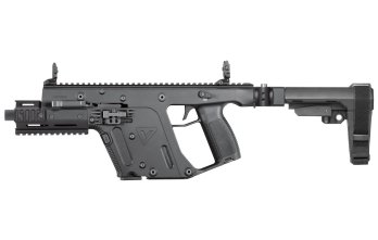 Kriss Vector – .45ACP Pistol with Enhanced model Brace Black  (KV45-PSBBL30) folding brace, foregrip, 6.5 barrel