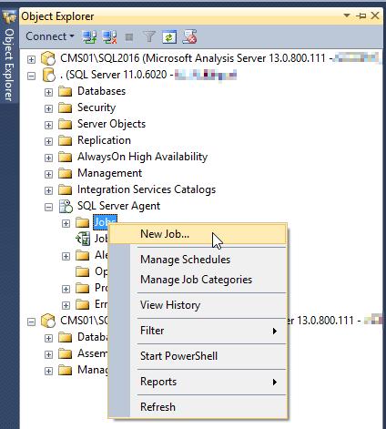 New SQL Agent Job