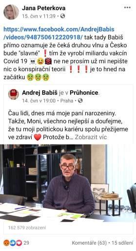 Jana Peterková a HATE na premiéra ČR Babiše 3