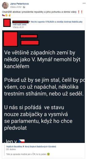 Jana Peterková a HATE na vládu 3