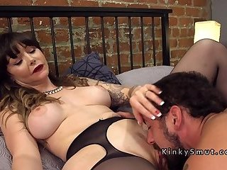 Danielle Foxxx Fucked Deep  C2 B7 Dude Licks Busty Babe While Getting Anal