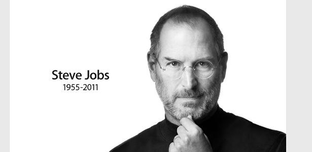 Apple divulga homenagem a Steve Jobs, fundador da Apple, na versão dos EUA do site da companhia