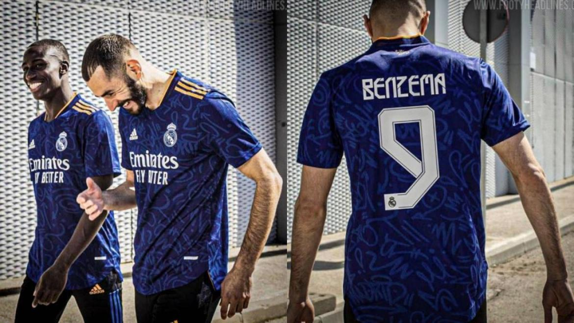 Benzema is already wearing the supposed Real Madrid 21-22 away kit