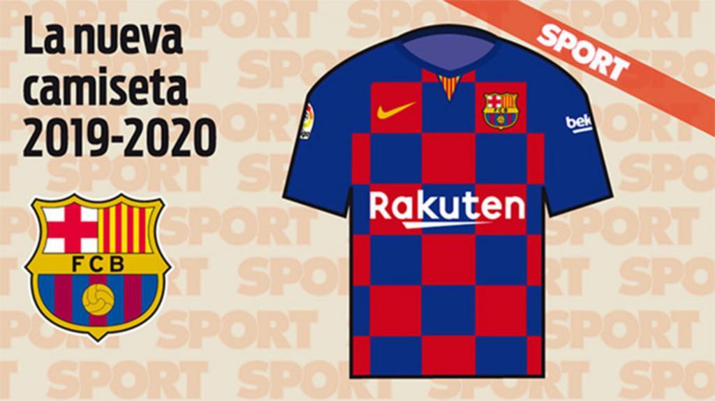 Les nouveaux maillots du FC Barcelone. Sport