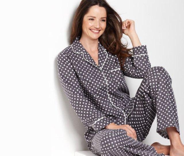Alfani Top And Flannel Pajama Pants At Macys