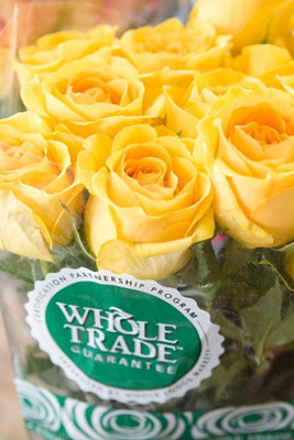 Whole Trade flowers from Whole Foods