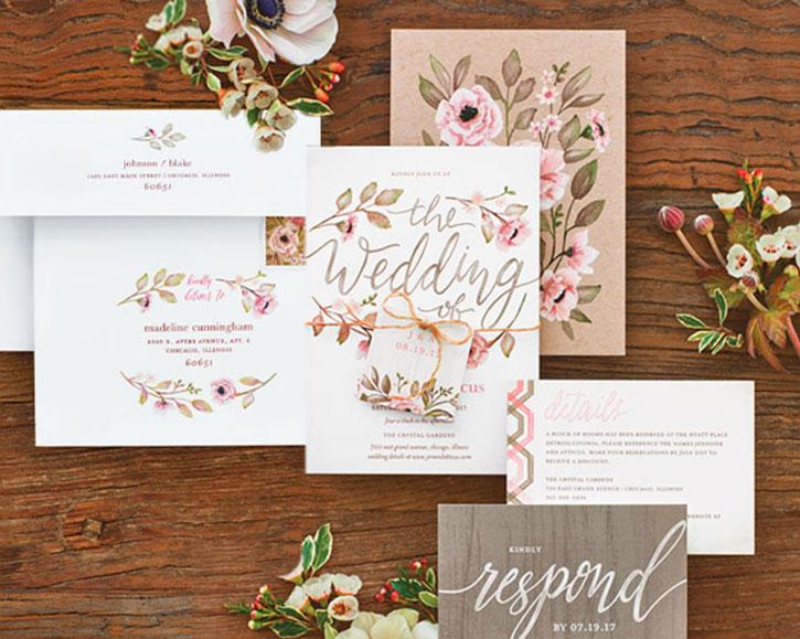 Delightful Blooms Wedding Paper Divas