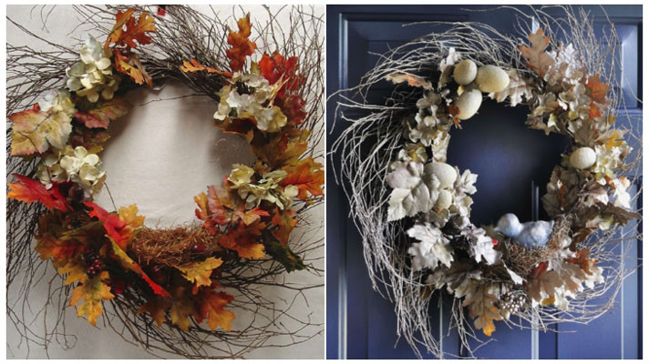 Fall to Winter Wreath