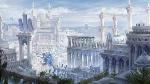 epicfantasy   Explore epicfantasy on DeviantArt SeerLight 2 661 202 Qrath Empire  cityscape fantasy concept art  by  DamianKrzywonos