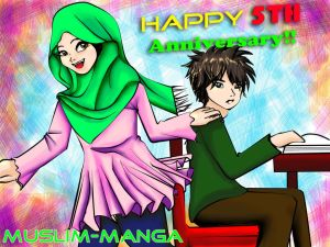 Muslim Manga CONTEST SUBMISSION 5th Anniversary by Rye-Rahym