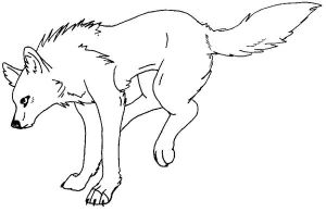deviantart more like wolf coloring page by wolfkanya