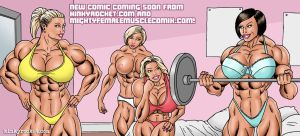 female muscle growth kinky rocket