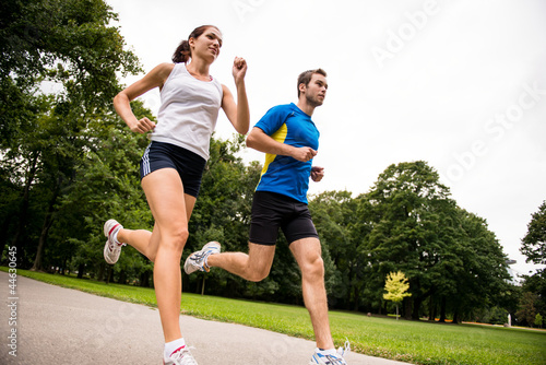 Jogging together - sport young couple