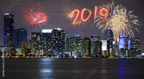 2019 New Year fireworks over Miami  Florida  USA   Buy Photos   AP     2019 New Year fireworks over Miami  Florida  USA
