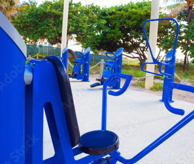 Public Beach Side Outdoor Gym Free To Use