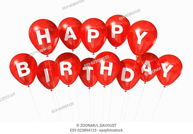 Birthday Message White Background Stock Photos And Images Agefotostock
