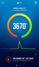 Nike Fuel app which shows how many Fuel Points you earned that day.