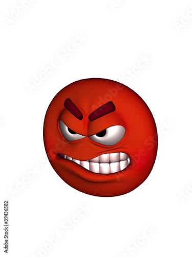 angry 3d smiley by nisha gandhi