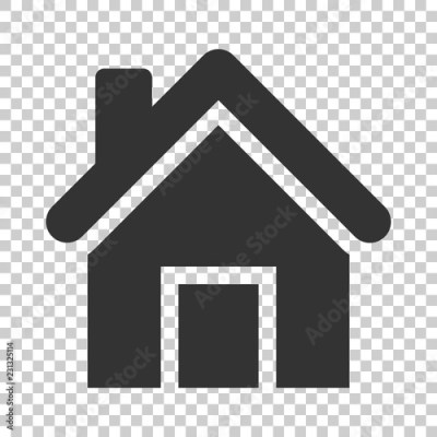 House Building Icon In Flat Style Home Apartment Vector Ilration On Isolated Background