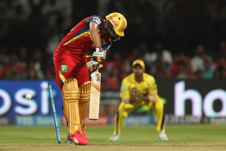 Rilee Rossouw bowled during an IPL match