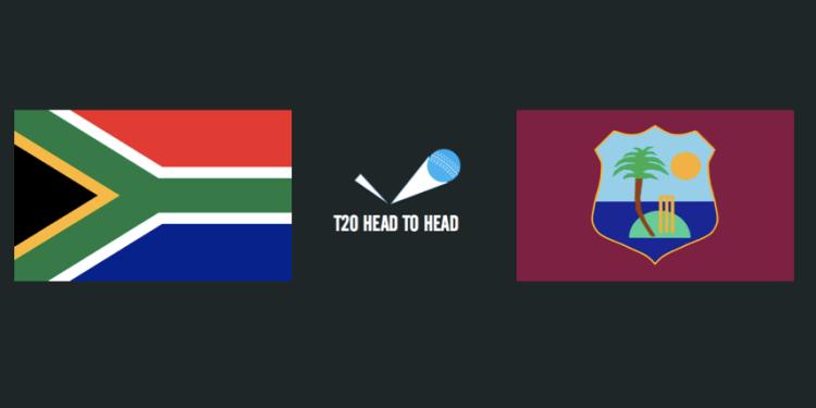 RSA vs WI head to head