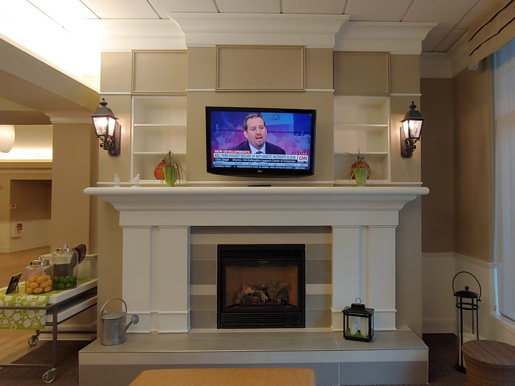 Painted fireplace niches
