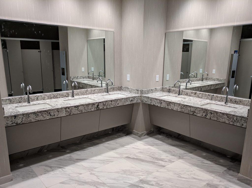 Quartz restroom countertops