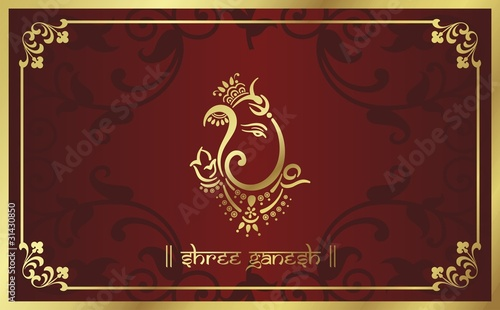 Traditional Hindu Wedding Card Design India Stock Image And Royalty Free Vector Files On Fotolia Pic 35460645