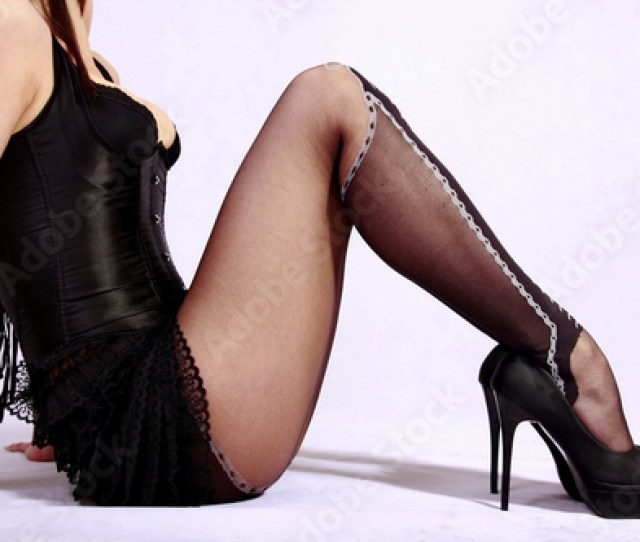 Sexy Legs In Black Stockings And High Heels Stock Photo And Royalty Free Images On Fotolia Com Pic 40376433