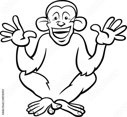 chimpanzee coloring page chimpanzee coloring page these