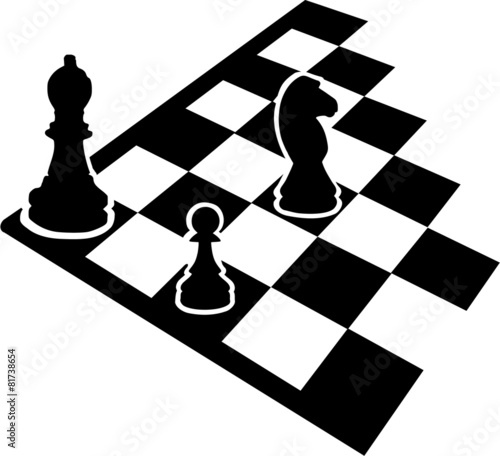 Chessboard With Chess Icons Stock Image And Royalty Free