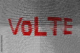 "VoLTE is presented in the form of binary code"" Stock photo and ..."