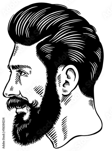 Hipster Man With Beard Logo Stock Image And Royalty Free