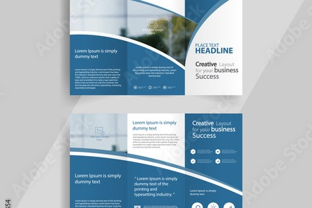 business tri fold brochure layout design  vector a4 brochure     business tri fold brochure layout design  vector a4 brochure template