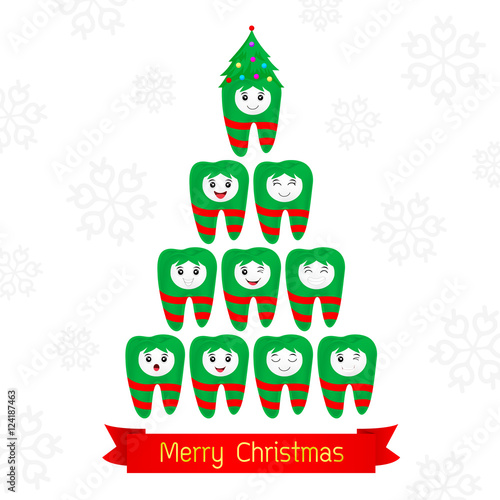 Christmas Teeth Fancy Dental Christmas Card