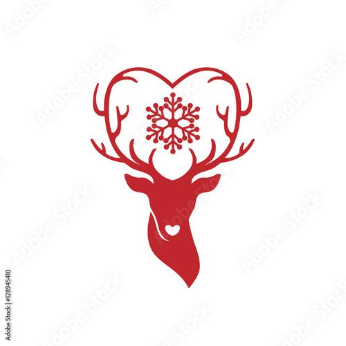 """Download """"head of deer with antlers love, deer love alters logo ..."""