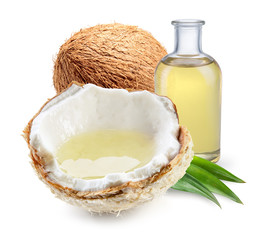 Coconut, with coconut oil with and half of young fresh coconut