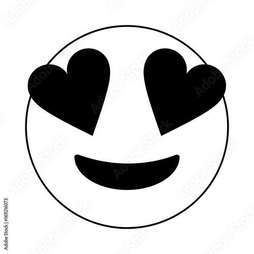 "Download ""Black and white in love emoji over white background ..."