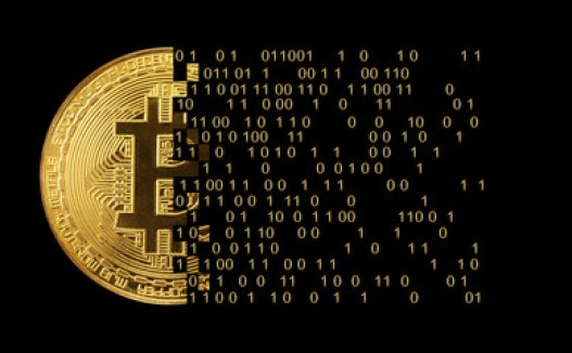 Bitcoin Konzept - die neue Weltwährung