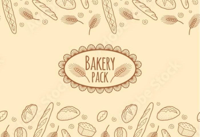 Bakery Vector Doodle Sketch Elements Pattern For Flyer Stock Image