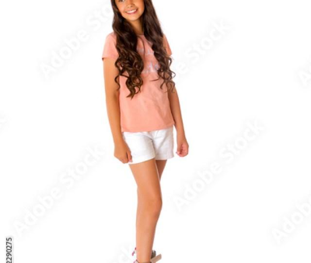 Asian Teen Girl Roller Skating
