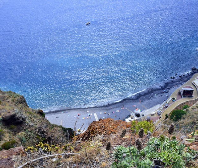 Top View Of The Rocky Beach In Ponta Do Garajau Madeira Island Portugal Stock Photo And Royalty Free Images On Fotolia Com Pic
