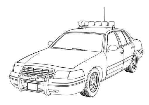Police Car Drawing Photos Royalty Free Images Graphics Vectors Videos Adobe Stock